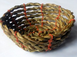 Basket made from Rush and Rope