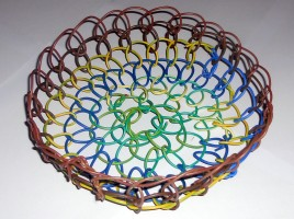 Basket Made From Looped Electrical Wire