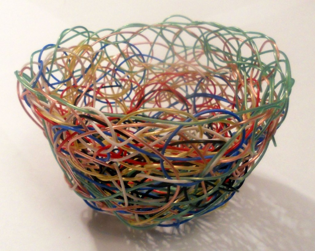 Basket From Telephone Wire