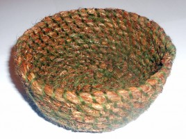 Basket from Hair Moss and Wool