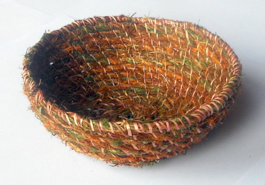 Basket Made From Hair Moss And Grass