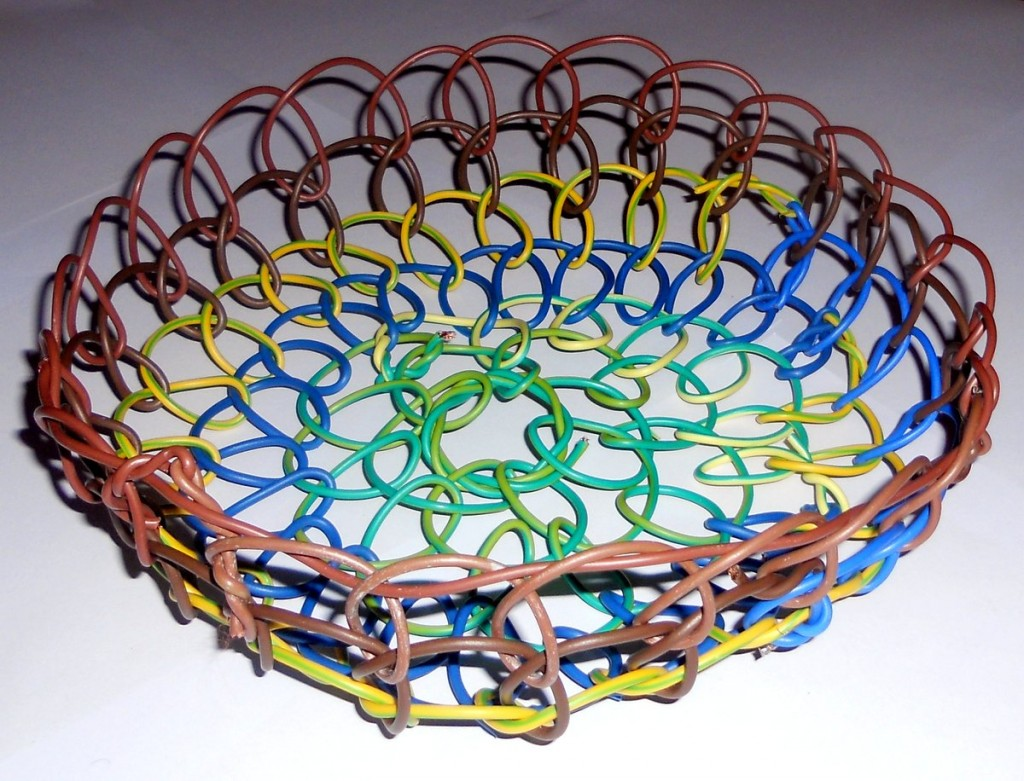Basket Made From Electrical Wire