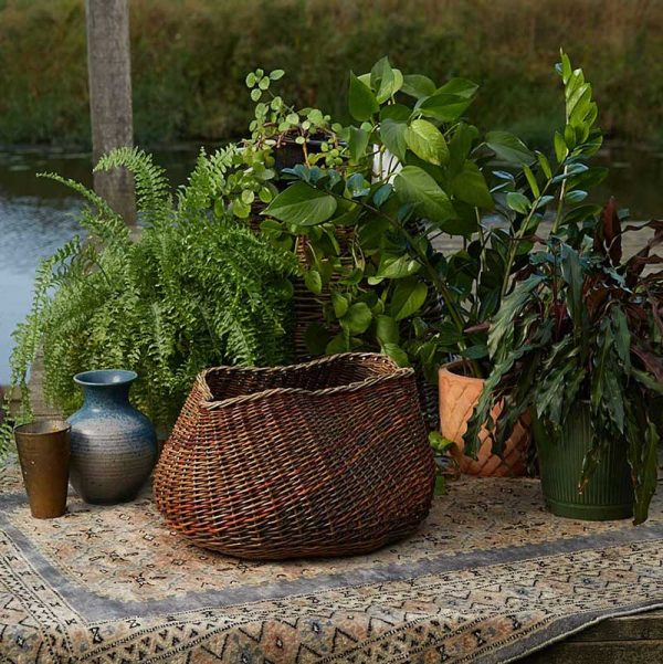 Organic willow freeform basket by Julie Gurr