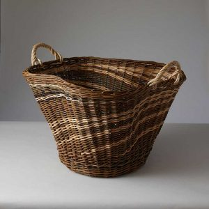 Willow Sculptural log basket by Julie Gurr