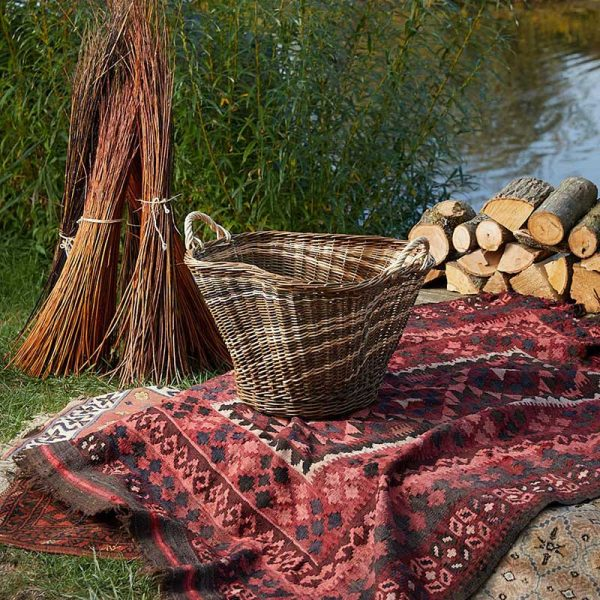 Willow Sculptural log basket by Julie Gurr