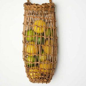 Tall willow wall basket by Julie Gurr