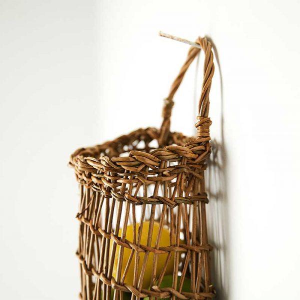 Tall willow wall basket by Julie Gurr